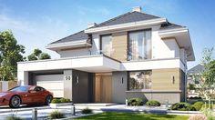 Projekt domu Oszust 2 132,02 m² - koszt budowy - EXTRADOM One Storey House, 2 Storey House Design, Bungalow House Design, Minimalist House Design, Modern House Design, Morden House, House Plans Mansion, House Construction Plan, Best Architects