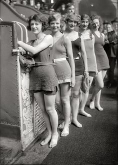 "New York, July 5, 1921. ""Whirl Girls."" Chorus girls for ""The Broadway Whirl,"" a musical comedy revue at the Times Square Theatre."
