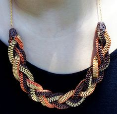 ribbon lanyard twist necklace..