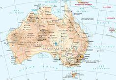 Article présentant une (ou plusieurs) carte de l'Australie cet immense pays situé en Océanie. Vous trouverez des cartes pour mieux connaître le pays.