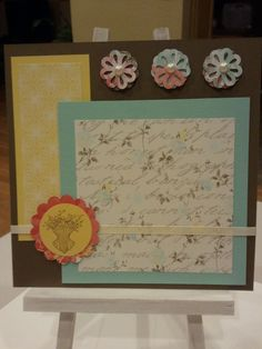 Rue Des Fleurs Scrapbook Page 8x8