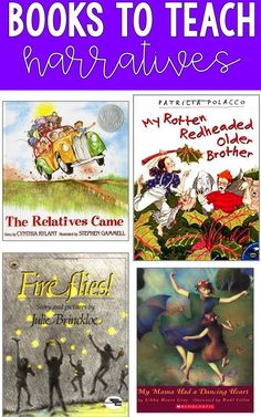 Mentor texts for teaching narrative writing