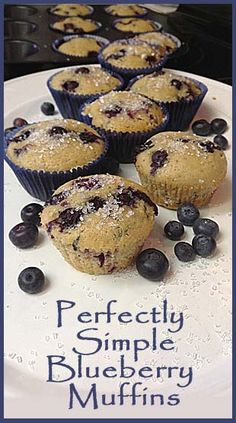 Easy Blueberry Muffins - love the texture, not to light not too dense. Can make with fresh or frozen blueberries.
