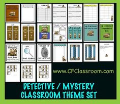 Photos, ideas & printable classroom decorations to help teachers plan & create an inviting Mystery Detective themed classroom on a budget. Lots of free decor tips & pictures. Preschool Themes, Classroom Themes, Classroom Organization, Classroom Management, Classroom Design, Classroom Displays, Future Classroom, School Wide Themes, School Ideas