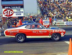 photos of sox & martin drag cars | RMP7059 Herb McCandless Duster vs. Ronnie Sox 'Cuda 2 Sox-Martin