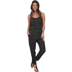 Billabong Steal the Night Pant Jumper Women's Jumpsuit & Rompers One... (210 VEF) ❤ liked on Polyvore featuring jumpsuits, black, black jumpsuit romper, black romper jumpsuit, skinny leg jumpsuit, black jump suit and black skinny leg jumpsuit