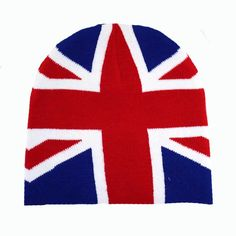 Purple Leopard Boutique - British Flag Beanie Red White