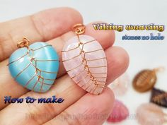 Wire Jewelry Making, Jewelry Making Tutorials, Wire Wrapped Jewelry, Wire Wrapped Stones, Wire Jewelry Designs, Handmade Wire Jewelry, Earrings Handmade, Wire Wrapping Crystals, Stone Wrapping