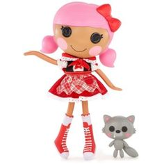Lalaloopsy Doll-Scarlet Riding Hood: This Scarlet Riding Hood doll is dressed in a fun outfit that includes a red dress with apron, matching...
