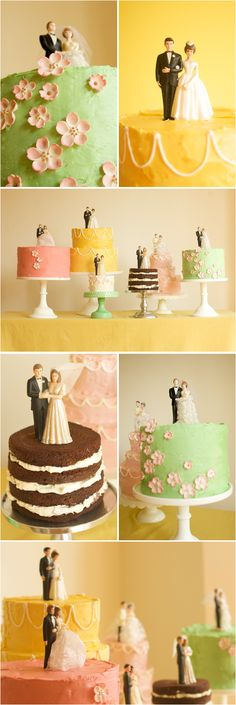 """Perhaps not the colors or the cake toppers, but we're definitely having a couple of """"regular"""" sized home-made cakes!"""