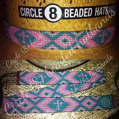 "Beaded hat band, Circle (8) Beaded Hatbands""  one more to the book and going to Australia !!!!"