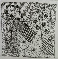 Zentangle M | The Letter M! | Pinterest