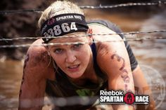 Spartan Chicks getting dirty in the mud - AROO!!  #Fitness #Determined