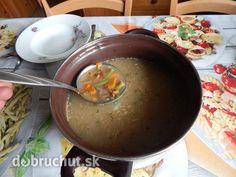Fotorecept: Hubová polievka so zeleninou