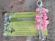 Unique Handmade Women Fight Breast Cancer Awareness Boxing glove charm Pink Beaded Keychain Upcycled With Swarovski Crystals