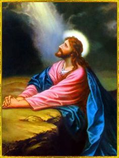 Jesus - my mother used to have this picture hanging on the wall at  home years ago.