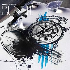 Trash polka abstract clock tattoo idea inspiration bunette