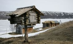 An old Sami 'nili' – a food storage hut raised above ground out of the reach of animals. What the Sami people can teach us about adapting to climate change. Photograph: Kaisa Siren/Rex Features