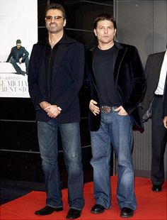 "George Michael and partner Kenny Goss during ""George Michael: A Different Story'' Tokyo Premiere at Bunkamura in Tokyo, Japan."