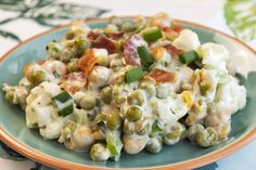 Super Simple And Totally Tasty Creamy Ranch Pea Salad…