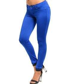 Royal Blue Jeggings by Buy in America #zulily #zulilyfinds