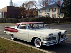A custom 1958 Edsel retractable hardtop, which was converted from a 1958 Ford Skyliner