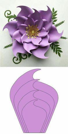 Paper Flower Patterns, Paper Flowers Craft, Large Paper Flowers, Paper Flower Wall, Paper Crafts Origami, Paper Flower Backdrop, Paper Flower Tutorial, Flower Crafts, Fabric Flowers