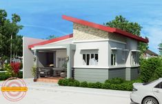 Simple house designs are easy to layout due to its simplicity and efficiency. Cecile is a one story simple house design with a total floor area of 100 sq. Modern Small House Design, Simple House Design, Cool House Designs, Philippines House Design, Modern Bungalow House, Modern Houses, Small Houses, One Storey House, Model House Plan