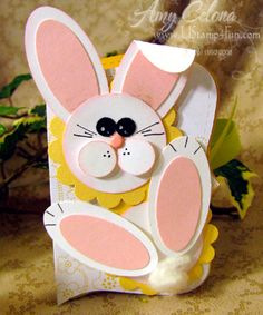 stampin up easter card ideas Easter Projects, Easter Crafts, Holiday Crafts, Easter Bunny, Easter Card, Punch Art, Copics, Kids Cards, Creative Cards