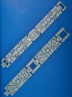 Cartier New York Art Deco Diamond Bracelet and Diamond Bracelet Watch, via Flickr.
