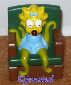 "MAGGIE FROM SIMPSONS BURGER KING TOY 2.5"" TREEHOUSE HORROR TV FIGURE USED 2011"