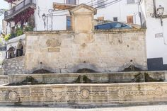 Fountain in Santa Maria square, Cazorla, Jaen, - Stock Photo , #Sponsored, #Maria, #square, #Fountain, #Santa #AD Fortification, Vector Hand, Andalusia, Moorish, Santa Maria, Birds In Flight, Hand Drawn, Mount Rushmore, Fountain