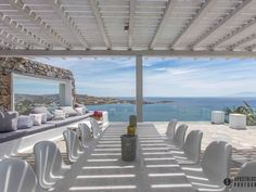 Check out this awesome listing on Airbnb: Villa Aqua- Luxury & Seaview Psarou - Villas for Rent in Mikonos Villa Aqua, Beach Bars, Ground Floor, Travel Inspiration, Greece, Pergola, Outdoor Structures, Vacation, Luxury