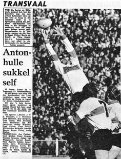 Rugby history: 1974 British Lions in South Africa South Africa Rugby, British And Irish Lions, International Rugby, Test Day, All Blacks, Folk Music, Coaching, 15 June, Folk