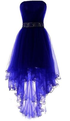 Royal Blue Tulle High Low Scoop Homecoming Dresses, Blue Party Dress, Shop plus-sized prom dresses for curvy figures and plus-size party dresses. Ball gowns for prom in plus sizes and short plus-sized prom dresses for Cute Prom Dresses, Dance Dresses, Formal Dresses, Sexy Dresses, Elegant Dresses, Awesome Dresses, Short Homecoming Dresses, Summer Dresses, Wedding Dresses