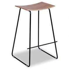 Yvonne Potter Y Design Timber Counter Stool Replica | Black Frame & Oak Seat