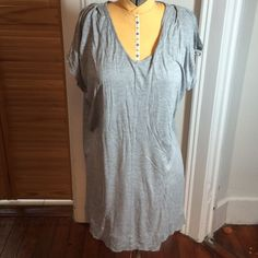 AllSaints t-shirt tunic dress AllSaints Camille jersey tunic v-neck dress. Pleat on the shoulder and cut out arm detail. 100% viscose. Loose fitting. I usually wear a 10-12 or a large in AllSaints but was able to wear this US size 8 and have lots of room. AllSaints Dresses Mini