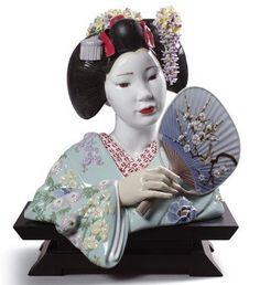 Lladro Maiko Figurine. #Lladro #Statue #Sculpture #Decor #Gift #gosstudio .★ We recommend Gift Shop: http://www.zazzle.com/vintagestylestudio ★