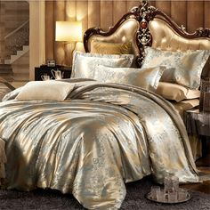 Luxury Bedding Set Silk 4pcs Bedclothes     Tag a friend who would love this!     FREE Shipping Worldwide     Get it here ---> https://www.cancoot.com/luxury-bedding-set-silk-4pcs-bedclothes/