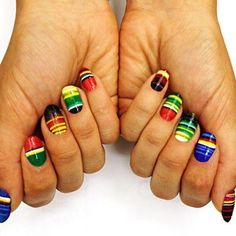 Celebra le Olimpiadi 2012 con Patriotic Nails. South Africa?