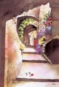 Pomm Fine Art | Exclusive Watercolor Painting Gallery | Exclusive Watercolor Collection | Far and Away | We Believe in Peace | Romeo's Love