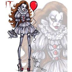 Haunt Couture by Hayden Williams: Pennywise downton sketches art design drawings design portfolios design sketchbook design sketches sketchbook sketches williams fashion Hayden Williams, Es Pennywise, Pennywise The Dancing Clown, Mode Halloween, Halloween Fashion, Fashion Design Drawings, Fashion Sketches, Fashion Illustrations, Dress Sketches