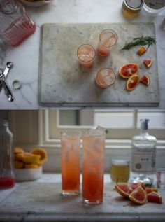 Blood Orange Gin Sparkler (use honey and seltzer water for SCD)