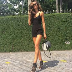 ood of the day.. Jumpsuit style and @Dolce & Gabbana lace ankle boots!!