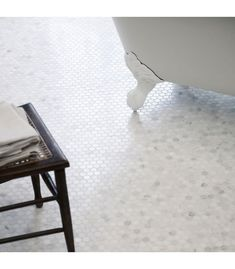 East Hampton Hexagonal Mosaic, Honed | Fired Earth Marble Wall, Marble Tiles, Glass Mosaic Tiles, White Marble, Wall Tiles, Honed Marble, White Bathroom Tiles, Glass Bathroom, Kitchen Tiles