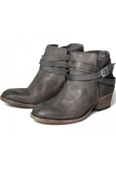 H by Hudson Horrigan Leather Ankle Boot - Smoke | Boots | Hengelo