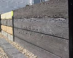 CONCRETE SLEEPERS RETAINING WALL , GARDEN BEDS , by fyshwick cement products