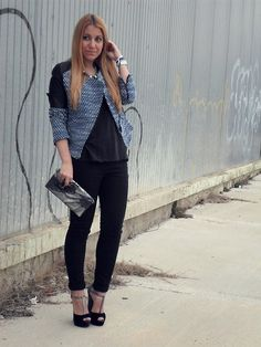 Velvet and Glitter (by Patricia Ayuso) http://lookbook.nu/look/4596181-Velvet-and-Glitter