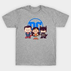 Lil Trinity T-Shirt - DC Comics T-Shirt is 31.4% off today at TeePublic with coupon PIDAY2021! Dc Comics T Shirts, Batman Stuff, Coupon, Mens Tops, Things To Sell, Coupons