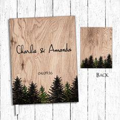 Woodsy Wedding Guest Book Woodland Wedding by Studio333Designs